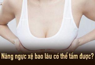 Nâng ngực xệ bao lâu có thể tắm được từ Nangngucxe.vn?